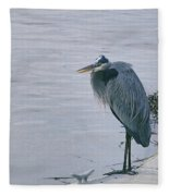 Waiting For A Boat Ride Fleece Blanket