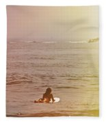 Waiting For A Wave Fleece Blanket