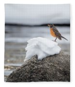 Waiting For Spring Square Fleece Blanket