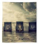 Waiting For The Flood Fleece Blanket
