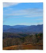 Waiting For Winter In The Blue Ridge Mountains Fleece Blanket