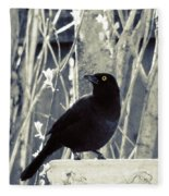 Waiting Grackle Fleece Blanket