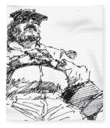 Waiting Room Nap Sketch Fleece Blanket