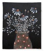 Wake Up And See The Flowers Fleece Blanket