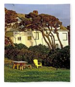 Waldport Beach House Fleece Blanket