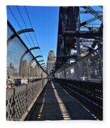 Walk Across Sydney Harbour Bridge Fleece Blanket