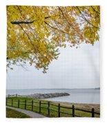 Walk Along The Shoreside Fleece Blanket