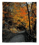 Walk In Golden Fall Fleece Blanket