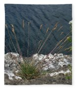 Flowers In Rock Fleece Blanket