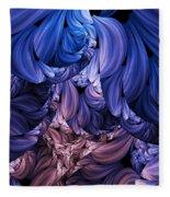 Walk Through The Petals Abstract Fleece Blanket