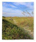 Walk To The Beach Fleece Blanket