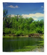 Walk With Me To The Other Side Fleece Blanket