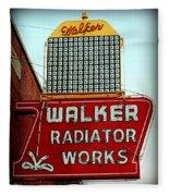 Walker Radiator Works Sign Fleece Blanket
