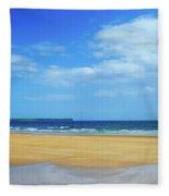 Walkers On The Strand In Tramore Fleece Blanket