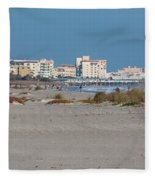 Walking Along Cocoa Beach Fleece Blanket