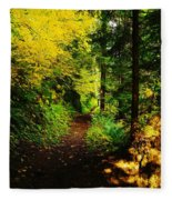 Walking An Autumn Path Fleece Blanket