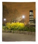 Walking Around Battery Park City Fleece Blanket