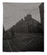 Walking Down The Street Fleece Blanket