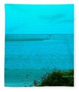 Walking In The Water At Isle Of Palms Fleece Blanket