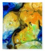 Walking On Sunshine - Abstract Painting By Sharon Cummings Fleece Blanket