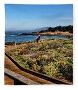 Walking On The Boardwalk Fleece Blanket