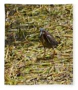 Walking On The Reeds Fleece Blanket
