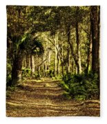 Walking The Bluff Artistic Fleece Blanket