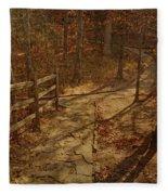 Walkway Through The Forest Fleece Blanket