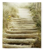 Walkway To Beach Fleece Blanket