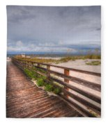 Walkway To The Beach At Romar Access Fleece Blanket