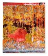 Wall Abstract 1 Fleece Blanket