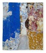 Wall Abstract 142 Fleece Blanket