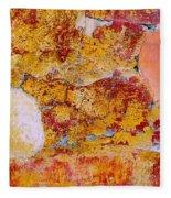 Wall Abstract 3 Fleece Blanket