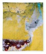 Wall Abstract 43 Fleece Blanket