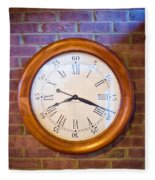 Wall Clock 1 Fleece Blanket