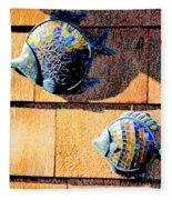 Wall Fish Fleece Blanket