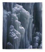 wall of ice in Partnach gorge 3 Fleece Blanket