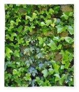 Wall Of Ivy Fleece Blanket