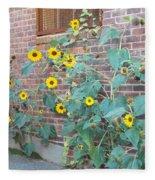Wall Of Sunflowers 1 Fleece Blanket