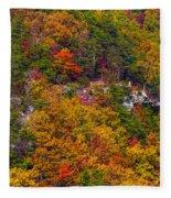 Wall Of Trees Fleece Blanket
