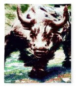 Wall Street Bull - Typography Fleece Blanket