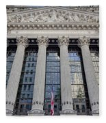 Wall Street New York Stock Exchange Nyse  Fleece Blanket