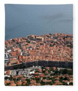 Walled City Of Dubrovnik Fleece Blanket