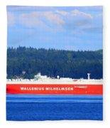 Wallenius Wilhelmsen Logistics Tamerlane Ship Fleece Blanket