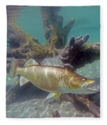 Walleye Pike And Dardevle Fleece Blanket