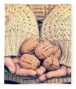 Wallnuts Fleece Blanket