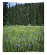 Wallowa Wildflowers Fleece Blanket