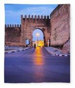 Walls Of Fes In Morocco Fleece Blanket