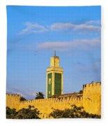Walls Of Meknes In Morocco Fleece Blanket