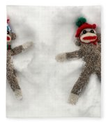 Wally And Petey Snow Angels Fleece Blanket